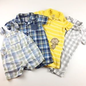 4 Piece Boys Clothing Bundle One Piece Rompers